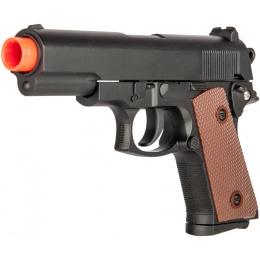 UK Arms P8947 Standard Metal Spring Airsoft Pistol - BLACK