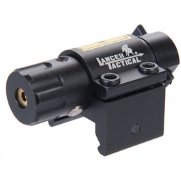 Lancer Tactical Airsoft Mini Sized Red Laser Sight - BLACK