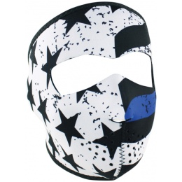 ZANheadgear Airsoft Tactical Blue Line Motley Full Face Mask - BLACK
