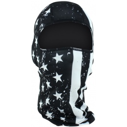 ZANheadgear Airsoft Black & White Flag Balaclava Head Mask - BLACK