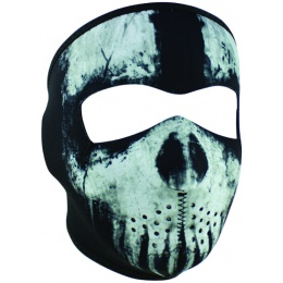 ZANheadgear Airsoft Tactical Skull Ghost Full Face Mask - BLACK