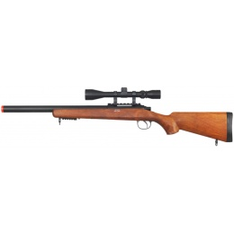 UK Arms Airsoft VSR-10 Bolt Action Rifle w/ Scope - WOOD