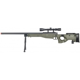 UK Arms Airsoft L96 Bolt Action Scope Rifle w/ Fold Stock - OD GREEN