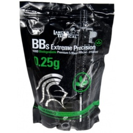 Lancer Tactical Airsoft 4000 Rds Bio-Degradable 0.25g BBs - WHITE