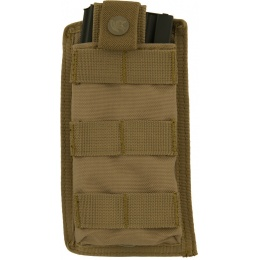 Lancer Tactical Airsoft 1000D Nylon Single MOLLE Pouch - TAN
