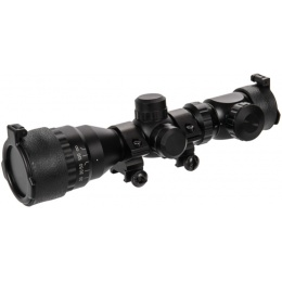Lancer Tactical AOEG 2-6x32 Red & Green Illuminated Scope - BLACK