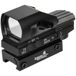 Lancer Tactical 1X Reflex Sight w/ Button Control - BLACK