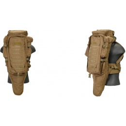 Lancer Tactical 600D Polyester Airsoft Rifle Backpack - KHAKI