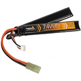 Lancer Tactical Airsoft LiPo 7.4V 1000mAh Nunchuck 20C Battery