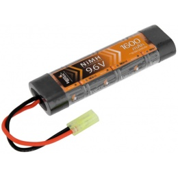 Lancer Tactical Airsoft NiMH 9.6V 1600 mAh Flat Battery