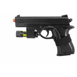 Airsoft P.812A Spring Pistol w/ Laser - BLACK