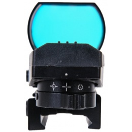 Lancer Tactical Airsoft 4 Reticle Red Control Reflex Sight - BLACK