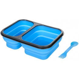 Lancer Tactical Airsoft Foldable Silicone Mess Kit - BLUE