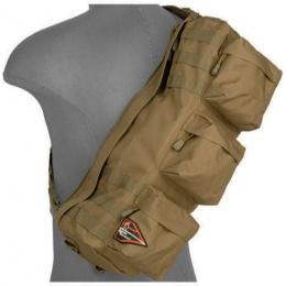 Lancer Tactical Airsoft Utility Go Pack Shoulder Bag - TAN