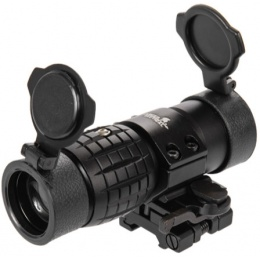 Lancer Tactical Airsoft 3X Metal Magnifier Scope w/ Mount - BLACK