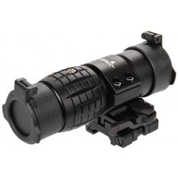 Lancer Tactical Airsoft 3X Metal Magnifier Scope w/ Mount - BLACK