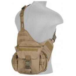 Lancer Tactical Airsoft Messenger Utility Bag - TAN