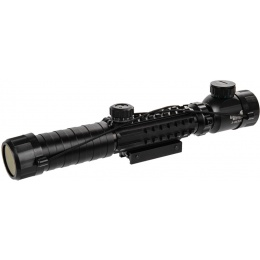 Lancer Tactical Airsoft 3-9x32mm Red/Green Illuminated Scope - BLACK
