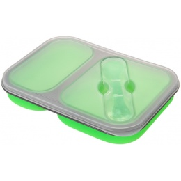 Lancer Tactical Airsoft Foldable Silicone Mess Kit - GREEN
