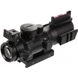 Lancer Tactical 4X32 RED & Green & Blue Illuminated Scope - BLACK