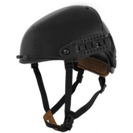 Lancer Tactical Airsoft CP AF Helmet w/ Side Rails - BLACK - L/XL