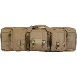 Lancer Tactical Airsoft MOLLE 36-inch Double Gun Bag - COYOTE BROWN