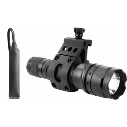 AIM Sports 500 Lumen Flashlight w/ 45 Degree Offset Mount - BLACK