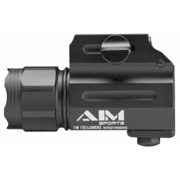 AIM Sports 330 Lumens Compact Flashlight w/ Quick Release Mount
