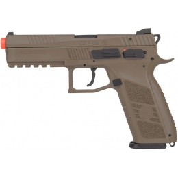 ASG CZ P-09 Compact Polymer GBB Airsoft Pistol - DARK EARTH