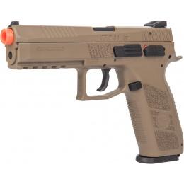 ASG CZ P-09 Compact Polymer GBB Airsoft Pistol - DARK EARTH