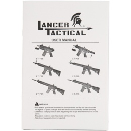 Lancer Tactical Metal M4 Warrior Carbine AEG Airsoft Rifle - BLACK