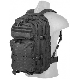 Lancer Tactical Laser Cut Webbing Multi-Purpose Backpack - BLACK
