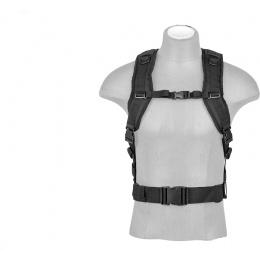 Lancer Tactical Laser Cut Webbing Multi-Purpose Backpack - BLACK