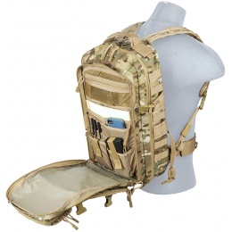 Lancer Tactical Laser Cut Webbing Multi-Purpose Backpack - CAMO