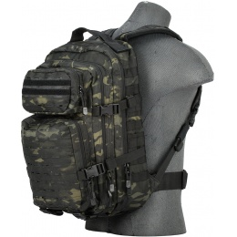 Lancer Tactical Laser Cut Webbing Multi-Purpose Backpack - CAMO BLACK
