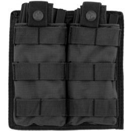 Lancer Tactical 1000D Nylon Double MOLLE Magainze Pouch - BLACK