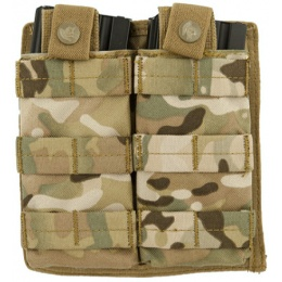 Lancer Tactical 1000D Nylon Double MOLLE Magainze Pouch - CAMO