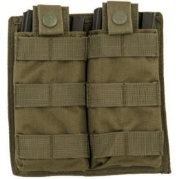 Lancer Tactical 1000D Nylon Double MOLLE Magainze Pouch - OD