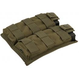 Lancer Tactical 1000D Nylon Double MOLLE Magainze Pouch - OD