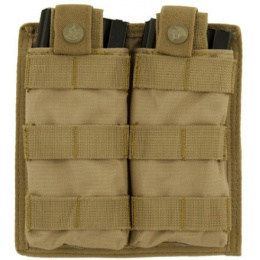 Lancer Tactical 1000D Nylon Double MOLLE Magainze Pouch - TAN