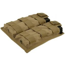 Lancer Tactical 1000D Nylon Double MOLLE Magainze Pouch - TAN