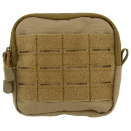 Lancer Tactical Enclosed Laser Cut M4 EMT Utility Pouch - TAN