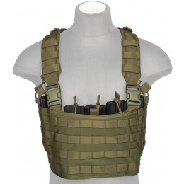 Lancer Tactical Light Weight Chest Rig w/ Mag Pouch - OLIVE DRAB