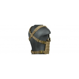 Lancer Tactical Airsoft Lightweight Magazine Pouch Chest Rig - TAN