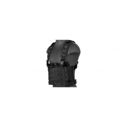 Lancer Tactical Airsoft Lightweight Magazine Pouch Chest Rig - BLACK