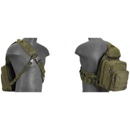 Lancer Tactical Airsoft Messenger Shoulder Bag - OD GREEN