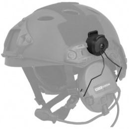 Lancer Tactical Airsoft Helmet Headset Rail MSA Adapter - BLACK