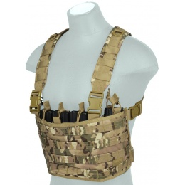 Lancer Tactical Lightweight Magazine Pouch Chest Rig - CAMO