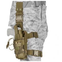 Lancer Tactical Airsoft Tornado Drop Leg Holster - CAMO TROPIC