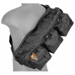 Lancer Tactical Outdoors Utility Go Pack Shoulder Bag - BLACK